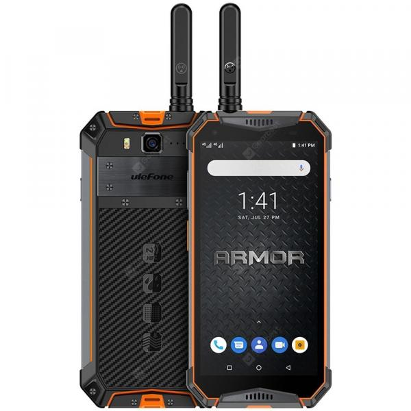 smartylife-Ulefone Armor 3WT 4G Phablet 5.7 inch Android 9.0 Helio P70 Octa Core 2.1GHz 4GB RAM 64GB ROM 21.0MP Rear Camera 10300mAh Battery Face ID Fingerprint Recognition IP68 IP69K  Gearbest