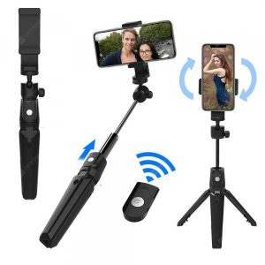 smartylife-K20 2 in 1 Selfie stick Tripod Stand with Remote Control  Gearbest