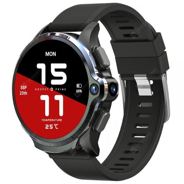 smartylife-KOSPET Prime 4G Smart Watch Phone 3GB RAM 32GB ROM 1.6 inch IPS Screen Healthcare Sports Android Smartwatch with Dual Cameras 1260mAh Battery Face ID Unlock for Men  Gearbest